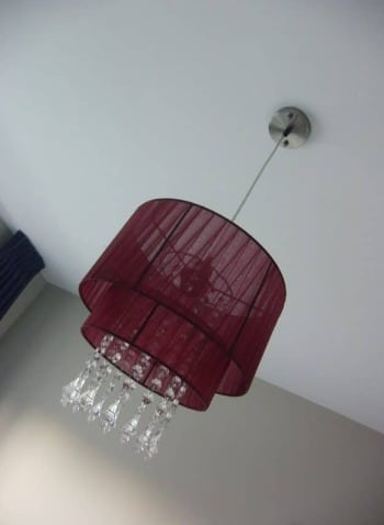 Louris hanglamp-cerise-bordeaux